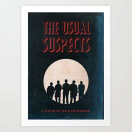 The Usual Suspects Film Noir Style Vintage Poster Art Print