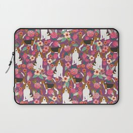 Beagle floral pattern dog breed gifts must have beagles florals pupper Laptop Sleeve
