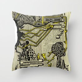 Destructive Nature Throw Pillow