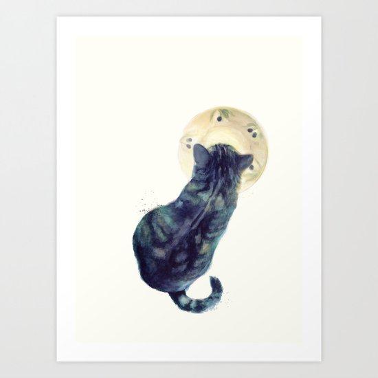 Kitten and Saucer Art Print