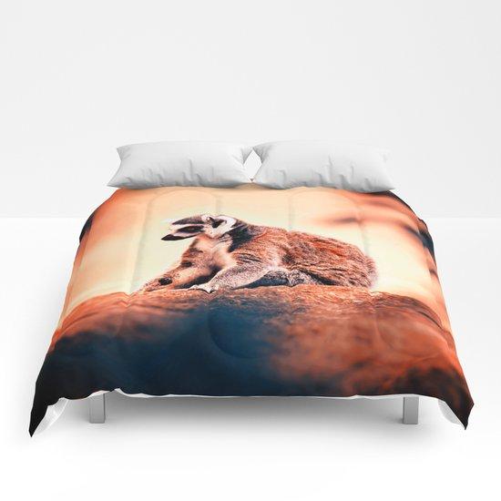Portrait Of Lemur Comforters