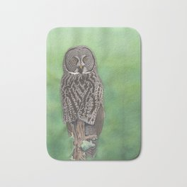 Great Gray Owl Bath Mat
