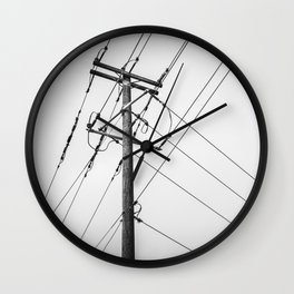 Electric Pole Wall Clock