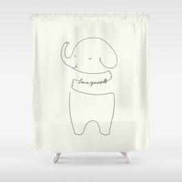 Love Yourself Ele Shower Curtain