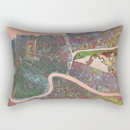 A Map of Vibrant New Orleans Rectangular Pillow