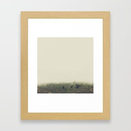 rolling hazy | mill valley, california Framed Art Print