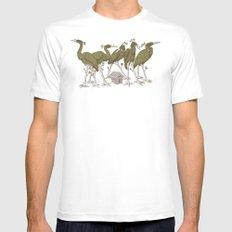 Bird Forest White MEDIUM Mens Fitted Tee