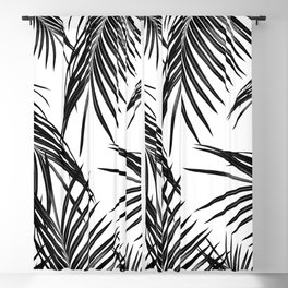 Black Palm Leaves Dream #1 #tropical #decor #art #society6 Blackout Curtain