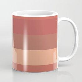 Warm Santa Fe Stripes - Variable Stripe Pattern in Dusky Rust Adobe Clay Earth Tones  Coffee Mug