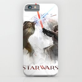 Star wars duel  iPhone Case