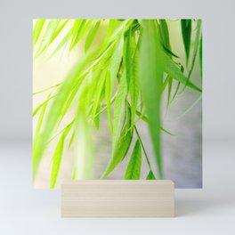 Nature photography green leaf II Mini Art Print