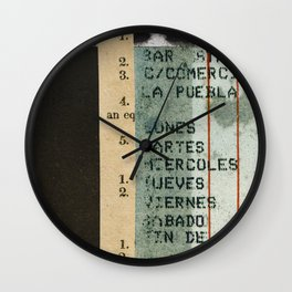 Spanish Calendar Wall Clock