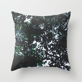 Tops of the leaves of trees silhouettes. Throw Pillow