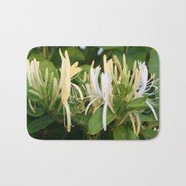 Closeup shot of Lonicera European Honeysuckle Flower Bath Mat