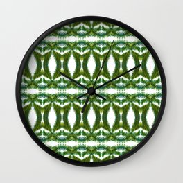 Palm Leaf Kaleidoscope (on white) #2 Wall Clock