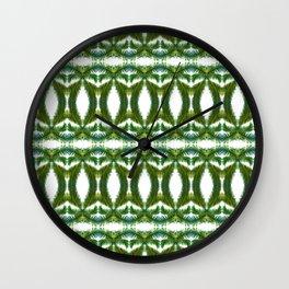 Palm Leaf Kaleidoscope (on white) #2 Wall Clock