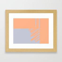 color vibration study Framed Art Print