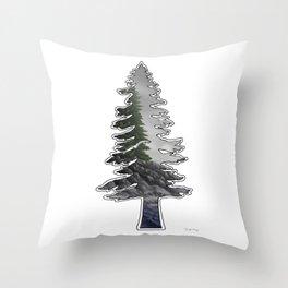 Tall Trees Cold Seas Throw Pillow
