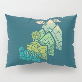 How to Build a Landscape : Blue Pillow Sham