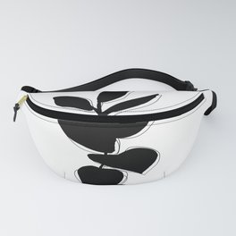 Plant silhouette line drawing - Evie layered Fanny Pack