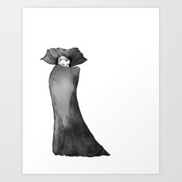 Count Dracula with Cape Art Print