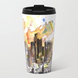 Los Angeles Cityscape Skyline Painting Travel Mug