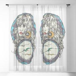 The 3 Birds of Rhiannon Sheer Curtain
