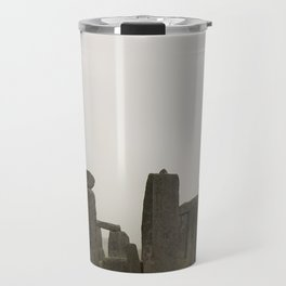 A Misty Morning at Stonehenge Travel Mug
