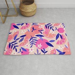Orange Blooms – Indigo & Pink Rug