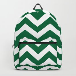 Cadmium green - green color -  Zigzag Chevron Pattern Backpack