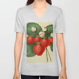 HOVEYS SEEDLING STRAWBERRY. Unisex V-Neck