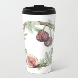 Fig Wreath Metal Travel Mug