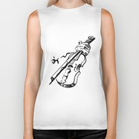 violin Biker Tanks featuring Violin by Azure Cricket