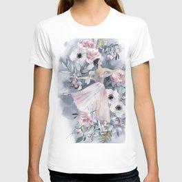 Ballerina and flowers n.4 T-shirt