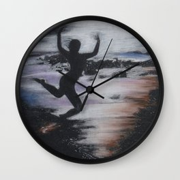 Black and White Drawing Wall Clock