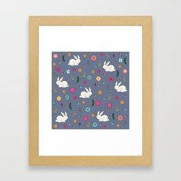 Easter bunny Framed Art Print