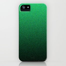 Green and Black Static Ombre iPhone Case