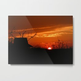 Desert sky Sunset -hermitage Metal Print