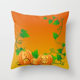 Pumpkins with personality Throw Pillow