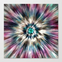 Starburst Tie Dye Canvas Print