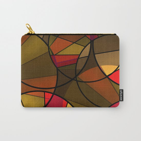 Red brown yellow black abstract pattern. Cycle . Carry-All Pouch