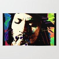 johnny depp Area & Throw Rugs featuring Johnny Depp by brett66