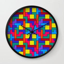 Tetris Pattern Wall Clock