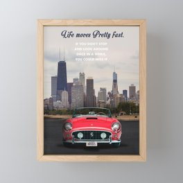 Ferris Bueller's Day off movie art Framed Mini Art Print