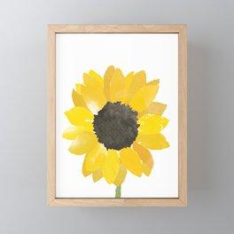 Watercolor Sunflower Framed Mini Art Print