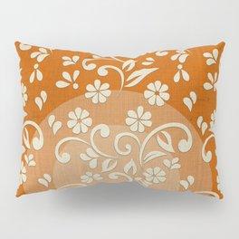 """""""Beige Flowers & Orange Texture"""" Pillow Sham"""