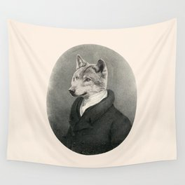 Lithography wolf Wall Tapestry