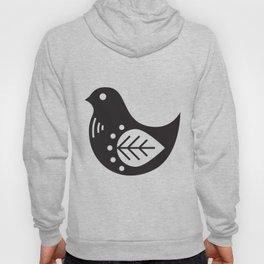 SCANDINAVIAN BIRD - MINIMAL BLACK AND WHITE Hoody