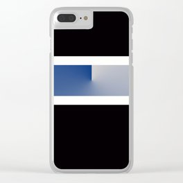 Team Colors 3....navy, blue gray Clear iPhone Case