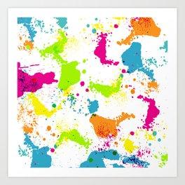 colorful paint blots Art Print